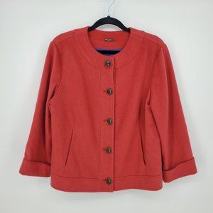 J. McLaughlin Wool Cashmere Button Blazer Sz 12